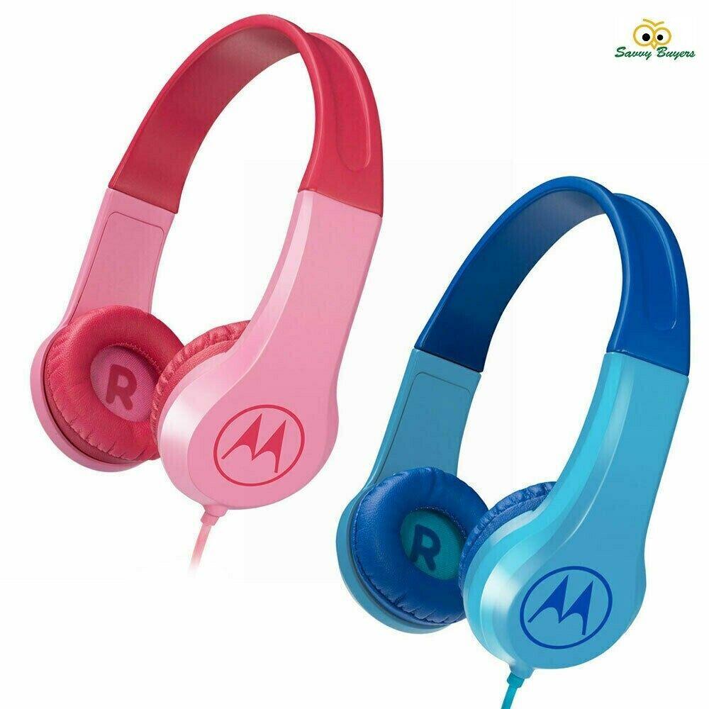 Motorola squads 200 kids wired headphones mic answer