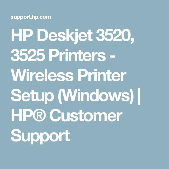 HP Deskjet 3520, 3525 Printers