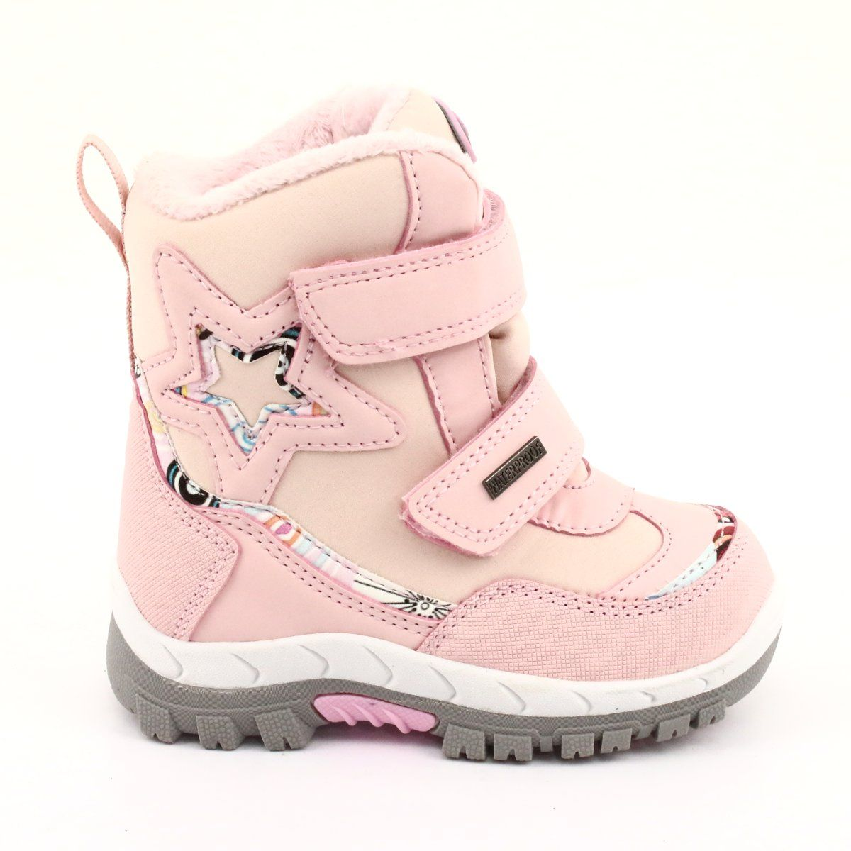 American Club Kozaki Z Membrana Rl37 Gwiazda Rozowe Childrens Boots Boots Kid Shoes
