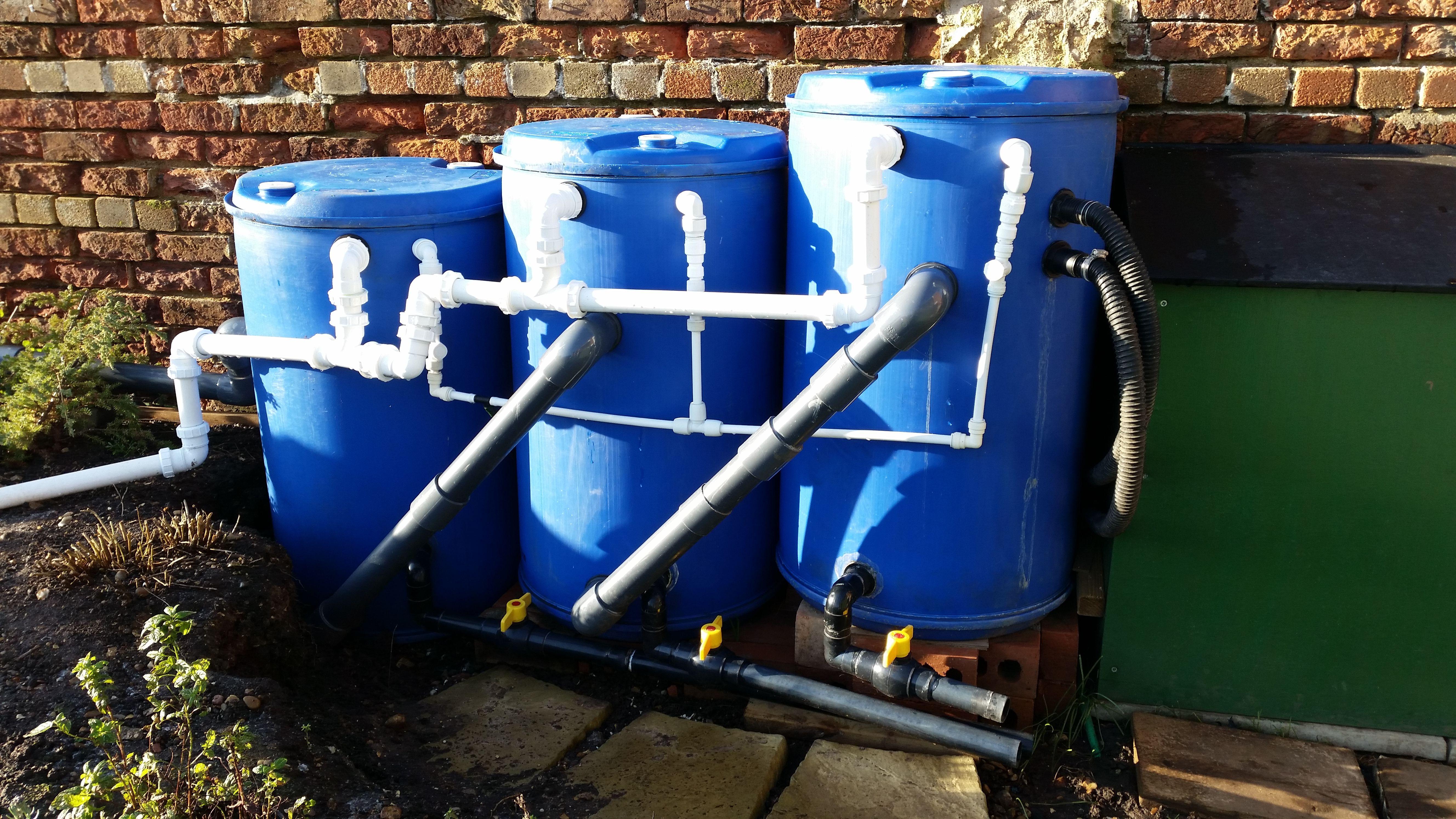 Diy pond filters tanks pinterest for Koi pond pool filter