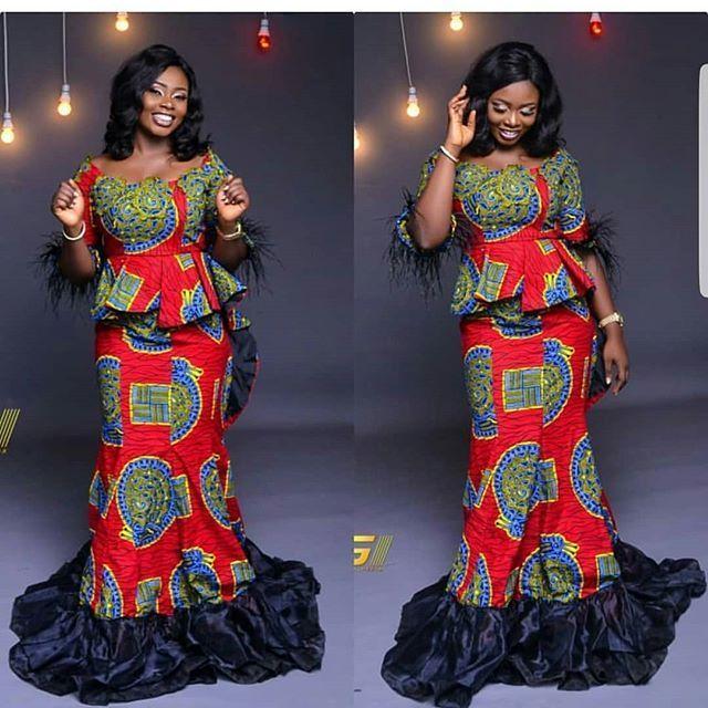 2018 Trendy Ankara Styles Ensemble Pagne, Belles Femmes Noires, Bien  Habillée, Robe Africaine