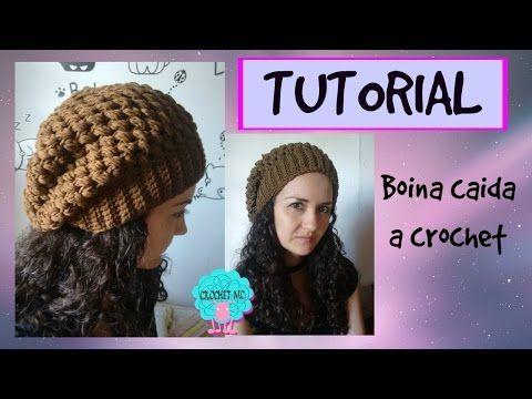 ... (Slouchy Beanie) a Crochet - ENGLISH SUBS ¡TUTORIAL ANIVERSARIO! -  YouTube. Gorro Espiral con Flor tejido a crochet con indicaciones para  cualquier edad ... a939e6a168b