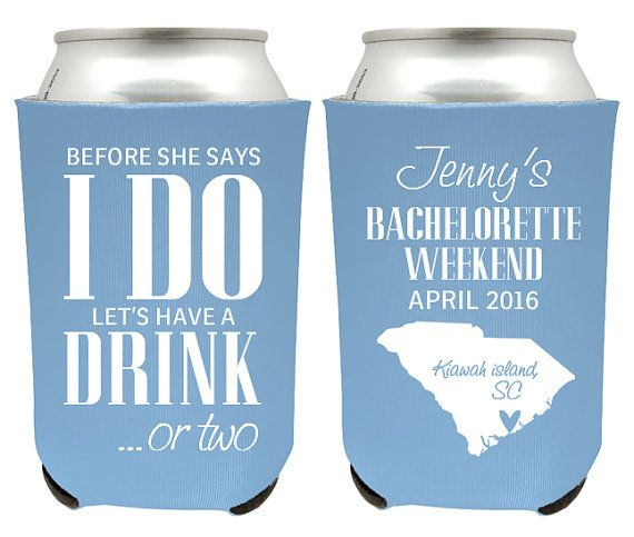 Skinny Before She Says I Do Can Cooler Bachelorette Weekend Bachelorette Party Favor Bachelorette Party Can Cooler Bride Custom Can Cooler