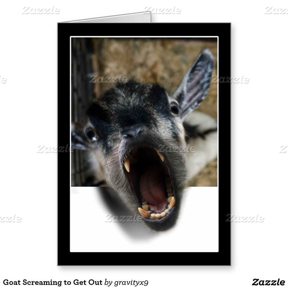 CREEEEEPY!!  Goat Screaming to Get Out  by #gravityx9 -