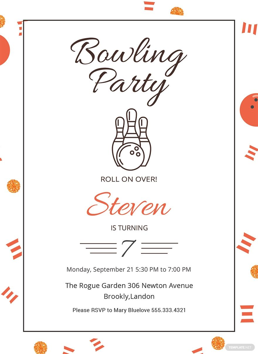 Bowling Party Invitation Retro Bowling Party Invitation Bowling Birthday Party Invitation 5x7 Printable Bowling Party Invitations Bowling Birthday Party Bowling Birthday Party Invitations