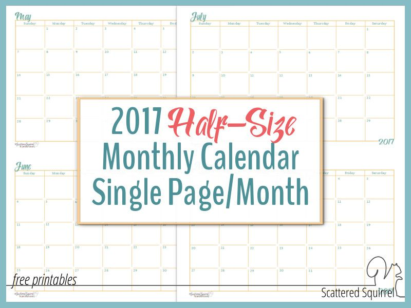 calendar by the month