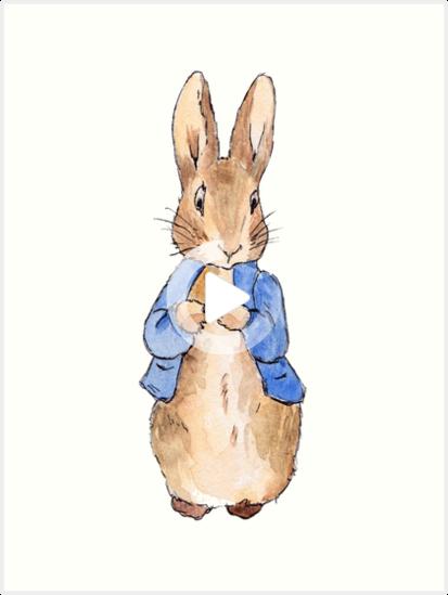 Peter Rabbit Beatrix Potter Art Print Peter Rabbit Illustration Beatrix Potter Illustrations Rabbit Illustration