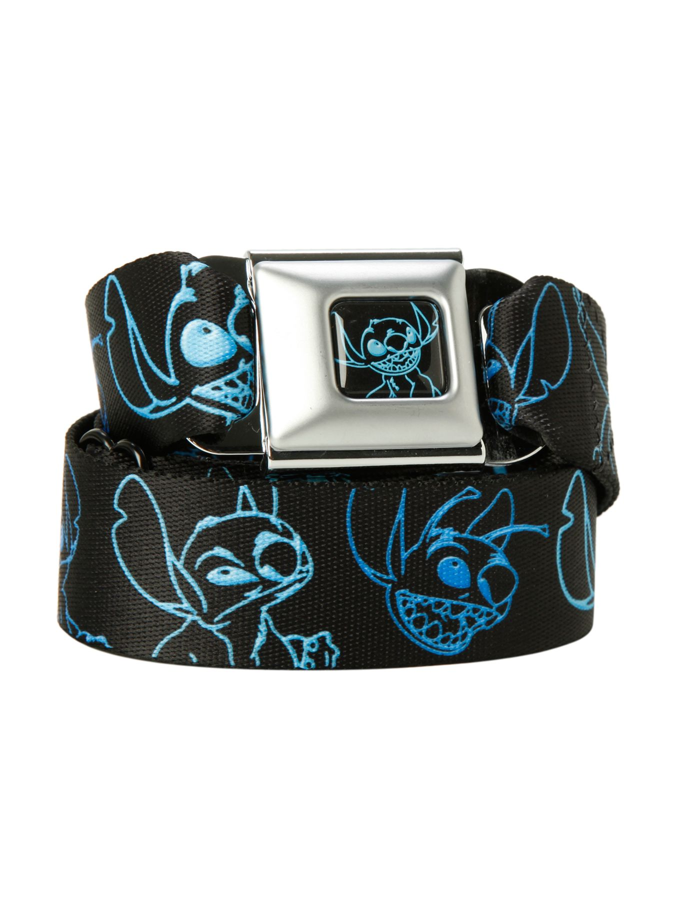 Disney Lilo & Stitch Outline Seat Belt Belt Hot Topic