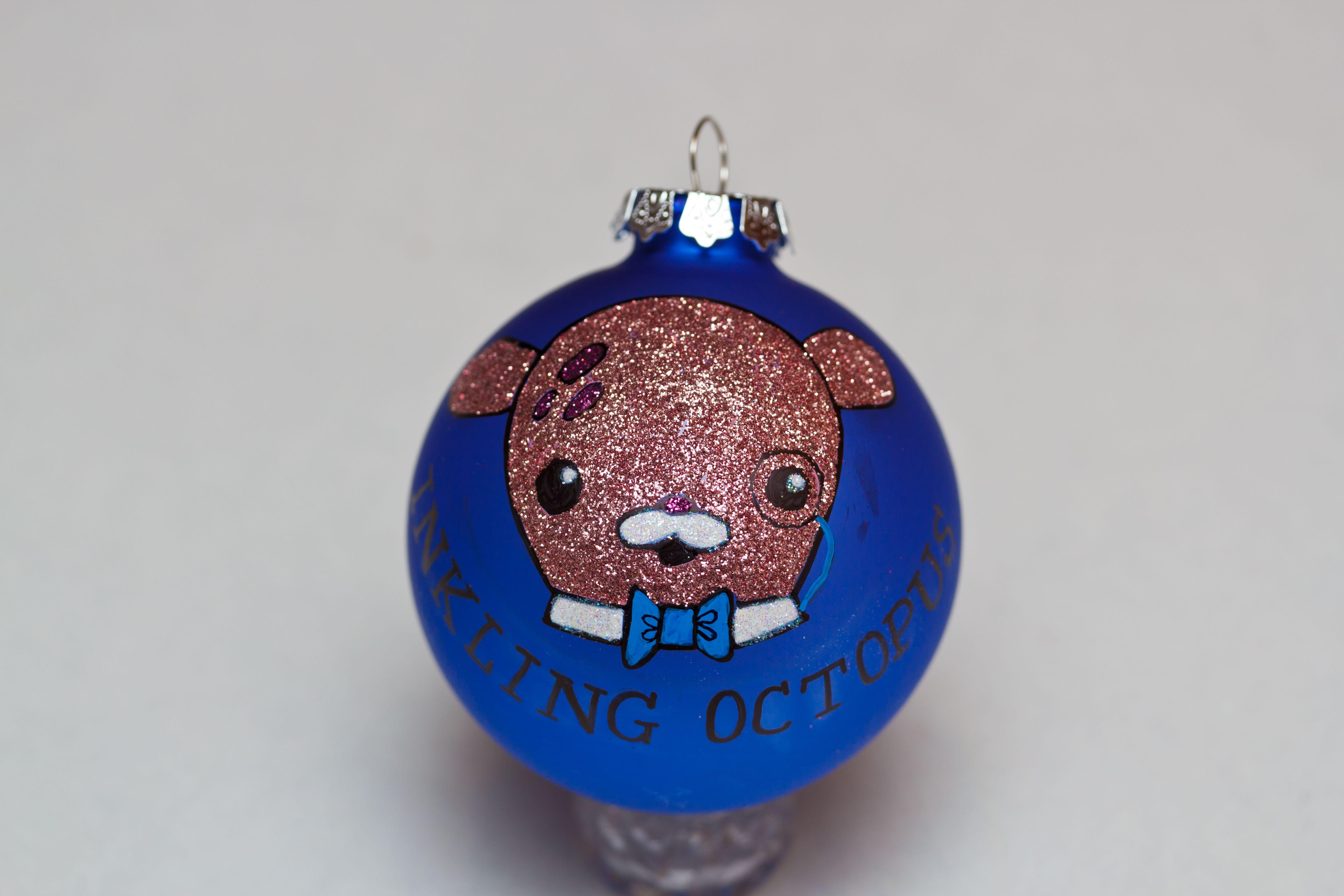 Professor Inkling Octopus of The Octonauts glass Christmas ornament ...