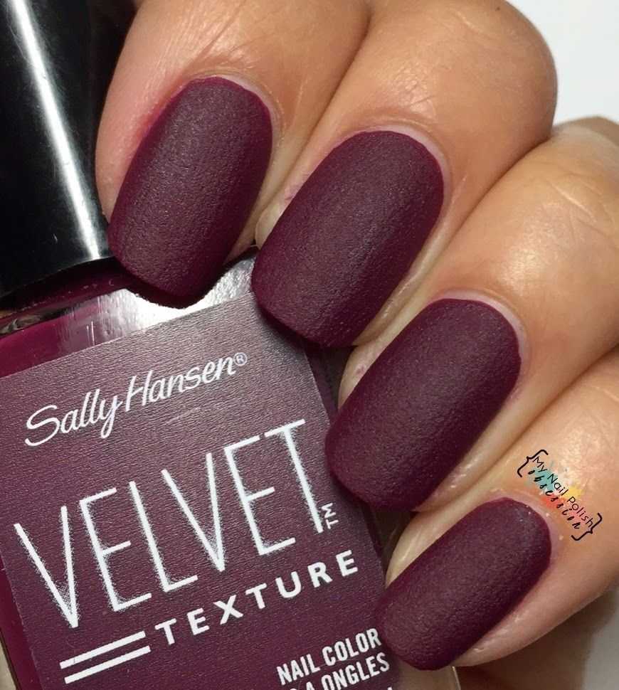 Sally Hansen Velvet Texture Lavish | 2015 My Nail Polish Obsession ...