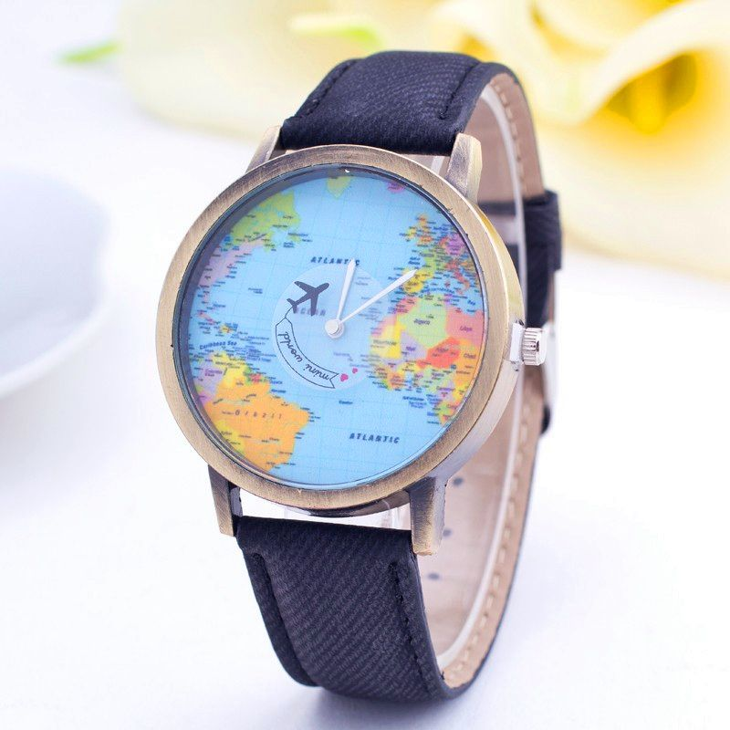 Click to buy by plane world map watch unisex denim fabric dress click to buy by plane world map watch unisex denim fabric dress gumiabroncs Images