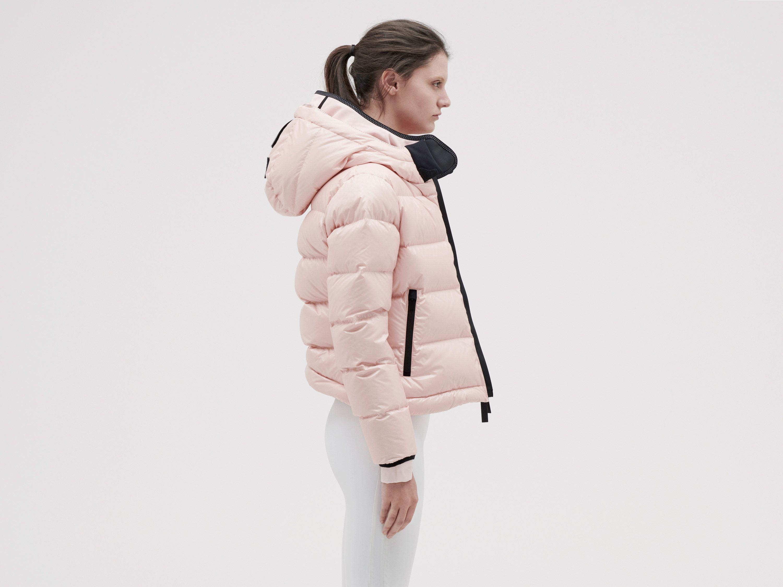 Templa 10k Nano Gloss Puffer Jacket Cropped Dust Pink Puffer Jackets Puffer Jackets [ 2250 x 3000 Pixel ]