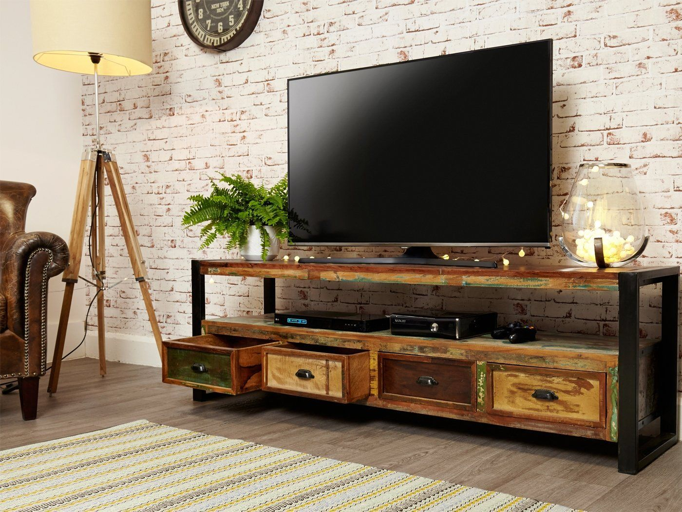 Industrial Living Room Tv Unit Large Tv Cabinet Tv Stands Industrialliving Roomtvunit Large Tv Unit Television Cabinet Tv Cabinets