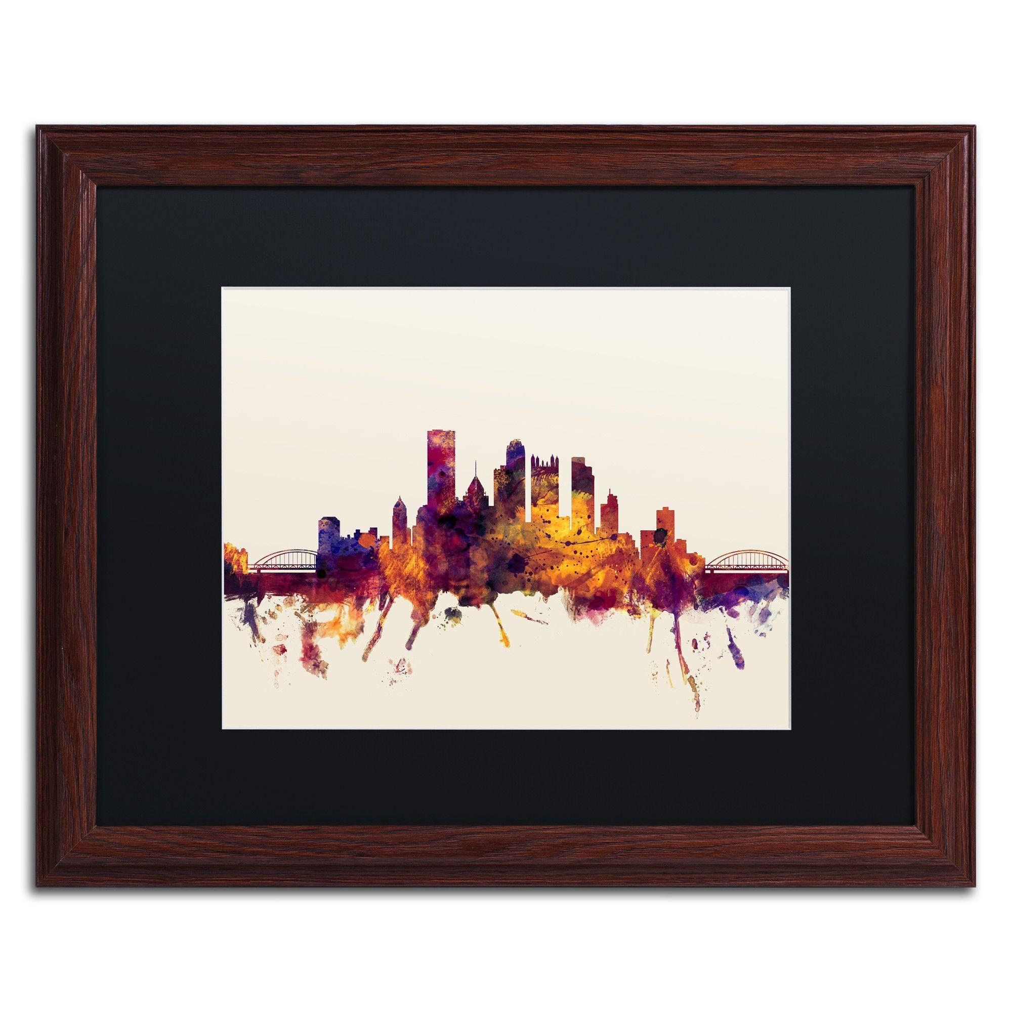 Pittsburgh Skyline IV by Michael Tompsett Framed Graphic Art