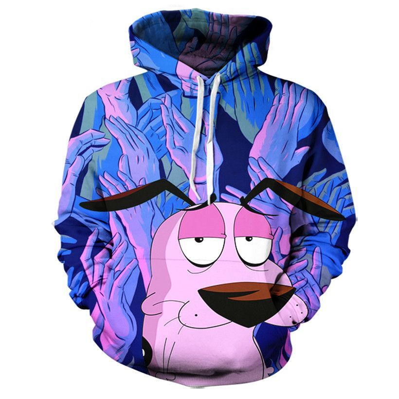 0279c1687739 Courage The Cowardly Dog Hoodie in 2019