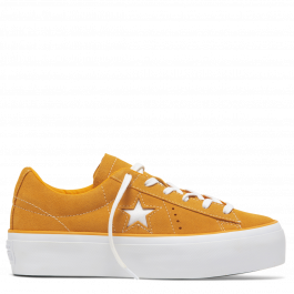 One Star Platform Low Top Field Orange Field Orange White