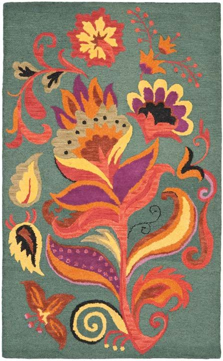 Rug Blm679a Blossom Area Rugs By Safavieh Floral Area Rugs Wool Area Rugs Area Rugs