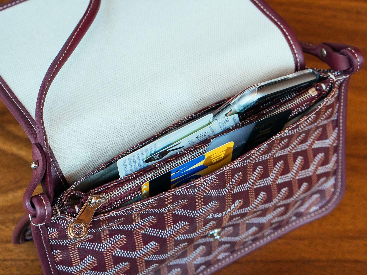 A Detailed Look At The Goyard Plumet Bag One Of The Brand S Newest Designs Purseblog Goyard Bags Handbags Goyard Plumet Goyard Bag