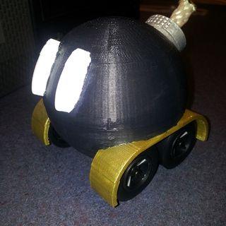 Bob-omb pinewood derby car (3D print)