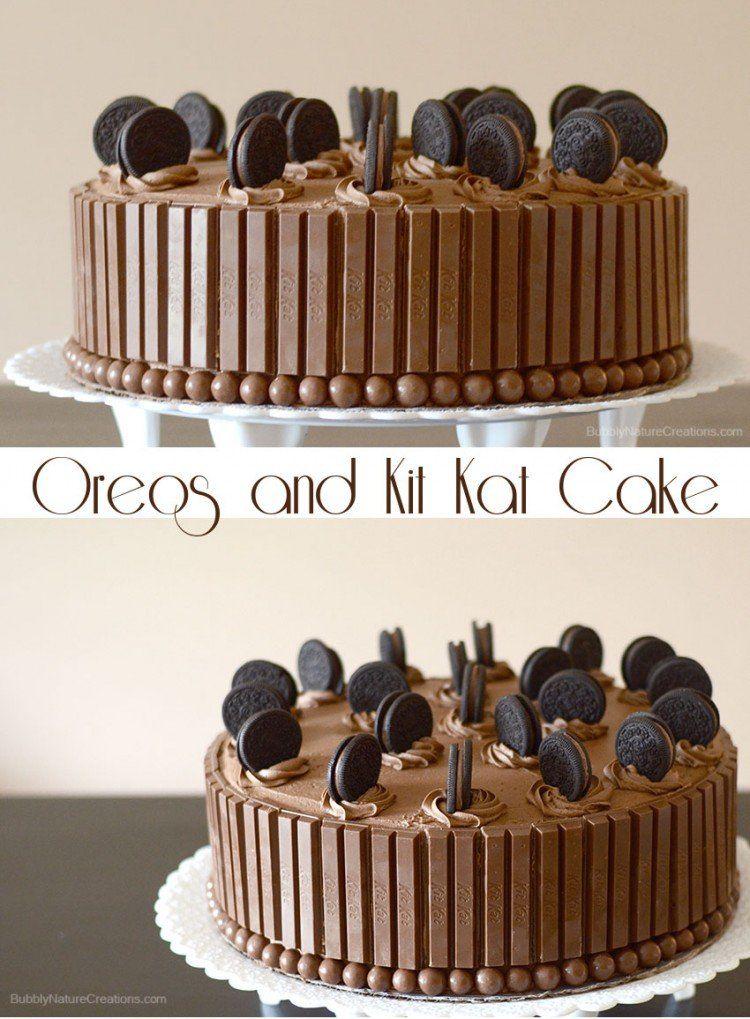 Oreos And Kit Kat Cake Recipe Kit Kat Cake Kitkat Cake Desserts