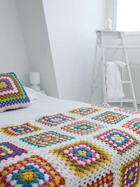 Cubre cama | Casa | Pinterest | Crochet