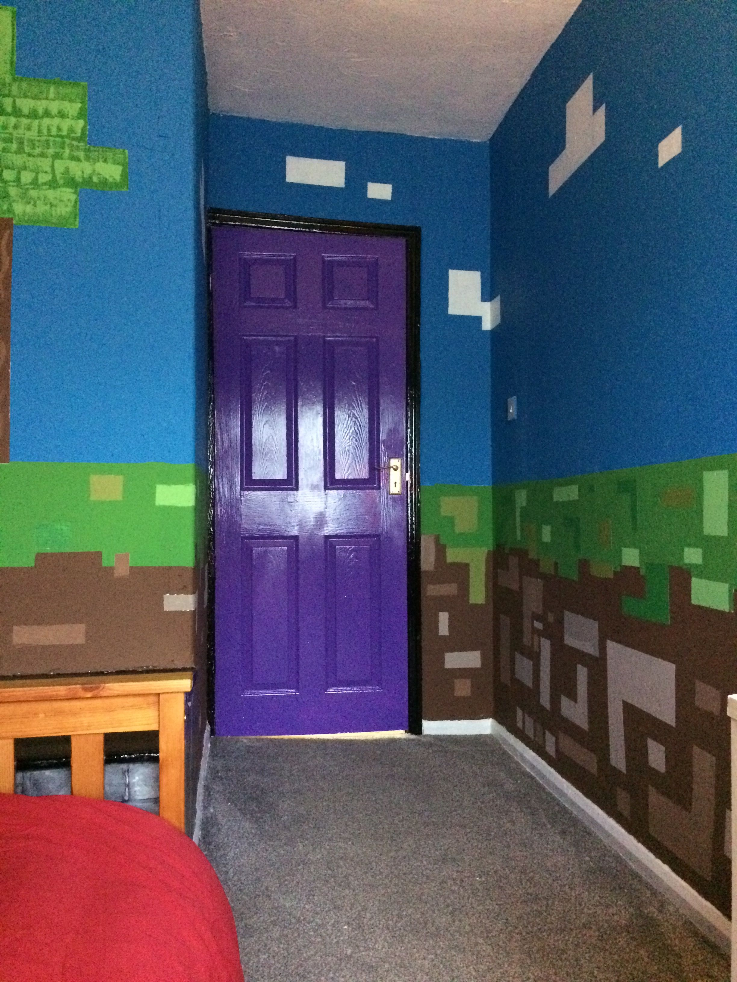 Camera Da Letto Minecraft nether portal door. minecraft bedroom (with images