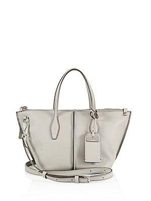 c5bab78442 Tod's Joy Mini Leather Zip Tote - Pale Grey - Size No Size ...
