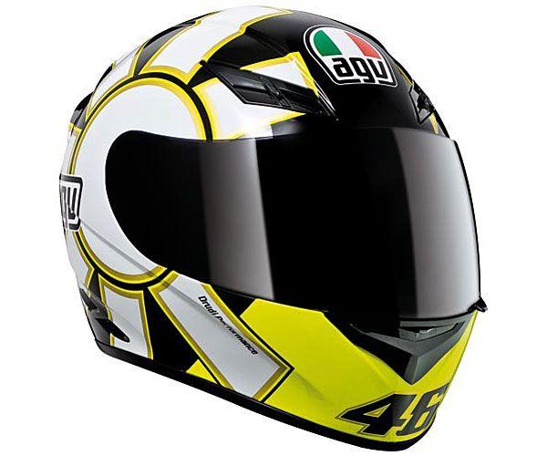 37e48174 AGV Men's K3 Valentino Rossi Gothic Helmet Black/White - Black - No Tax,  Free Shipping, Free Returns, Friendly Customer Service! visit  SoloMotoParts.com or ...