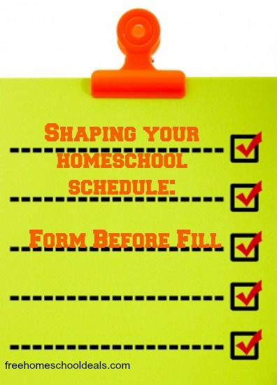 Shaping your Homeschool Schedule Form Before Fill! Homeschool - schedule a form