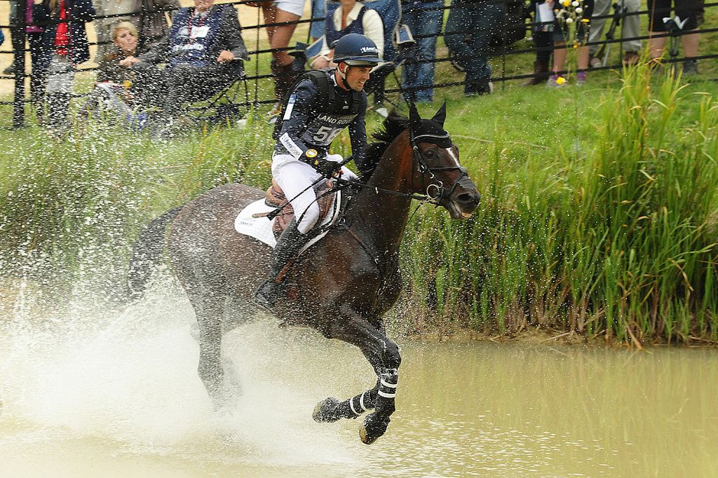 Burghley 2014 Johnathan Paget in the water
