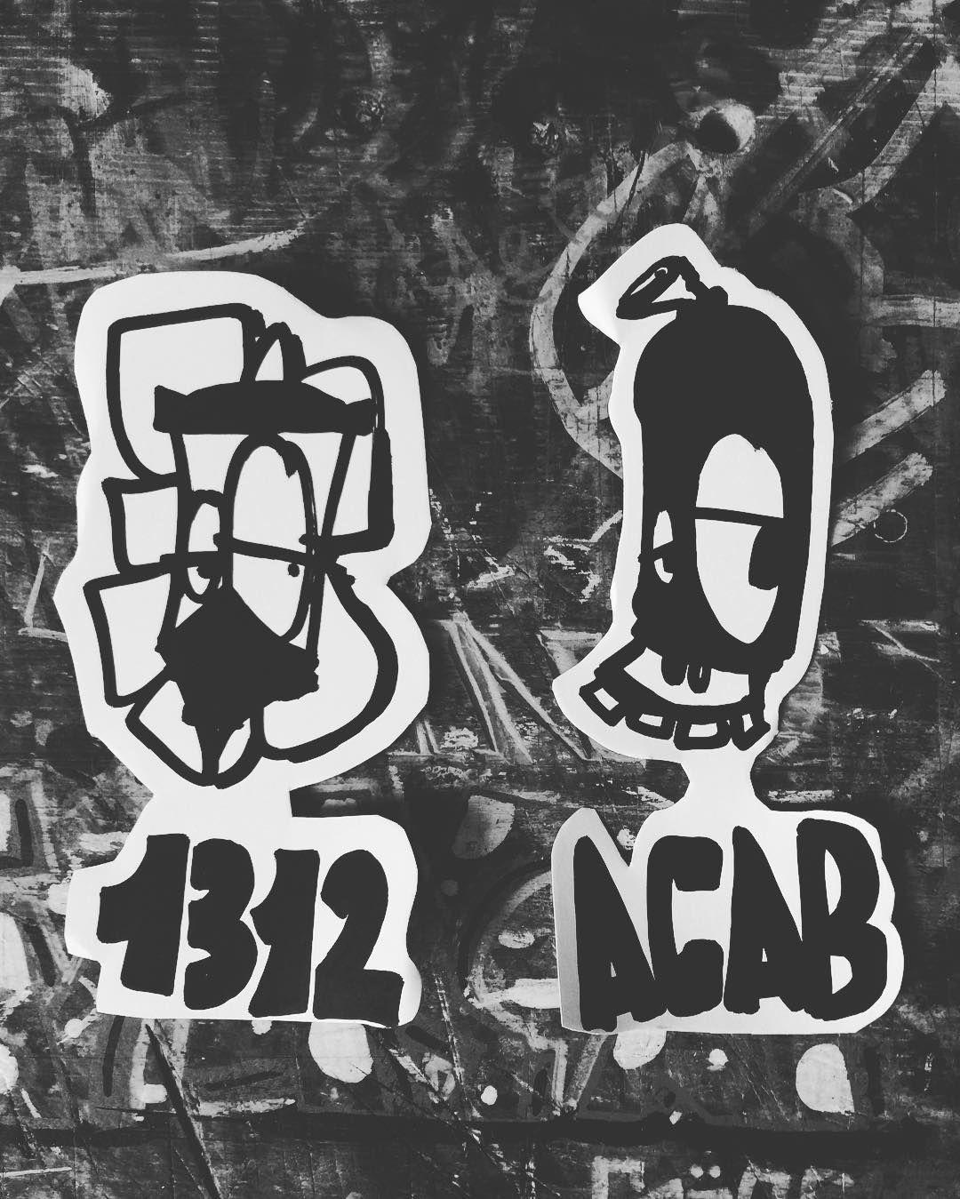 1312 ACAB 21107 Sticker #streetart #work #selfmade #hamburg #dr.shakewell