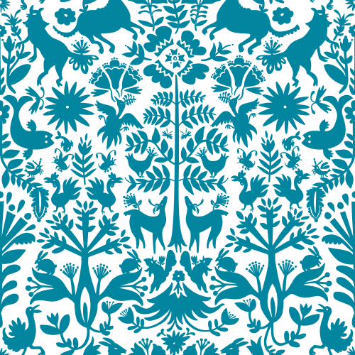 Removable Wallpaper Tiles otomi (turquoise) tiles | turquoise tile, turquoise and wallpaper