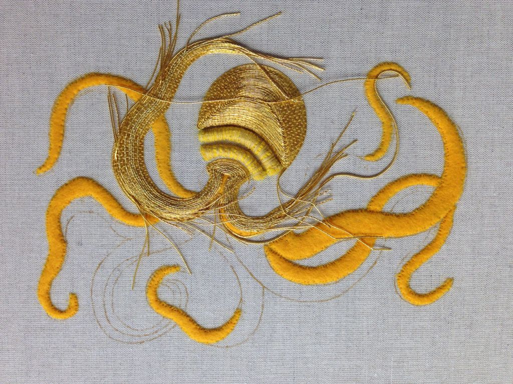 Goldwork Octopus – RSN – cloud juno