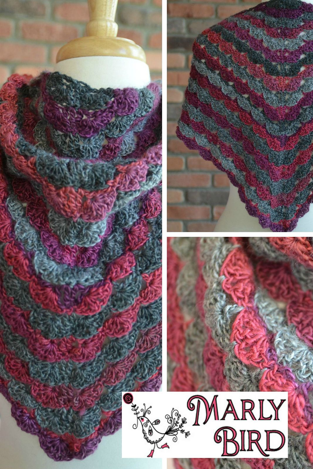 FREE PATTERN!!! H hook worsted weight yarn. No Stopping Me Now Shawl ...