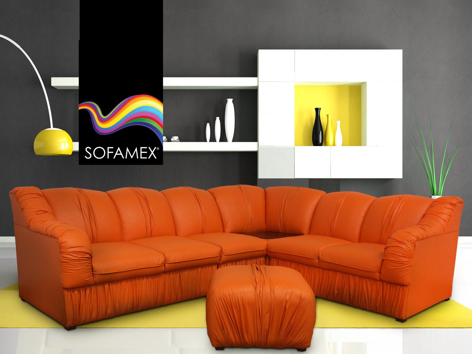 Sala chapala modular que consta de dos love seats con - Como conseguir color naranja ...
