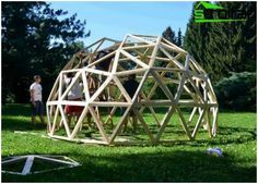 Geodätische Kuppel wie zu berechnen und eine geodätische kuppel bauen geo verbindung