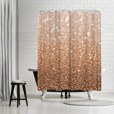 East Urban Home Emanuela Carratoni Copper Shiny Texture Shower Curtain