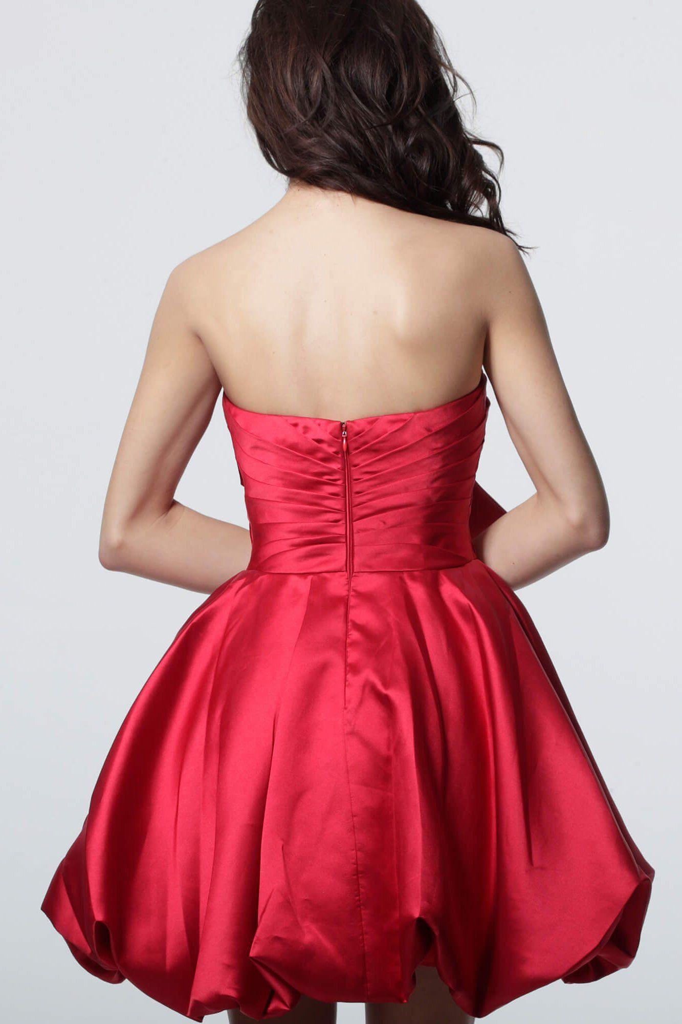 Jovani 66698 Strapless Bow Accent Bubble Skirt Cocktail Dress Bubble Skirt Strapless Homecoming Dresses Dresses [ 2000 x 1333 Pixel ]