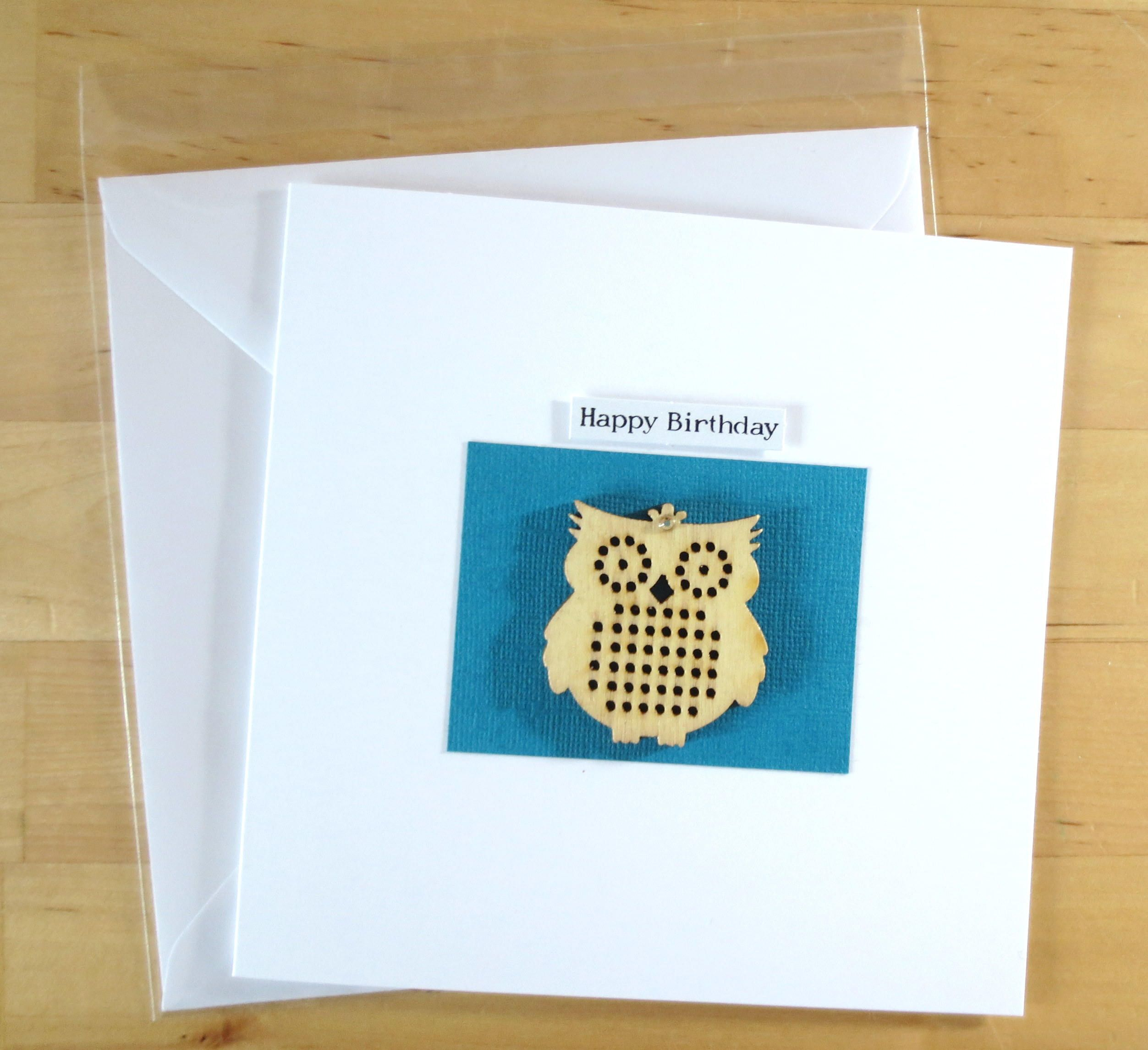 Birthday card owl owl cardowl card greeting card handmade birthday card owl owl cardowl card greeting card handmade birthday card bookmarktalkfo Images