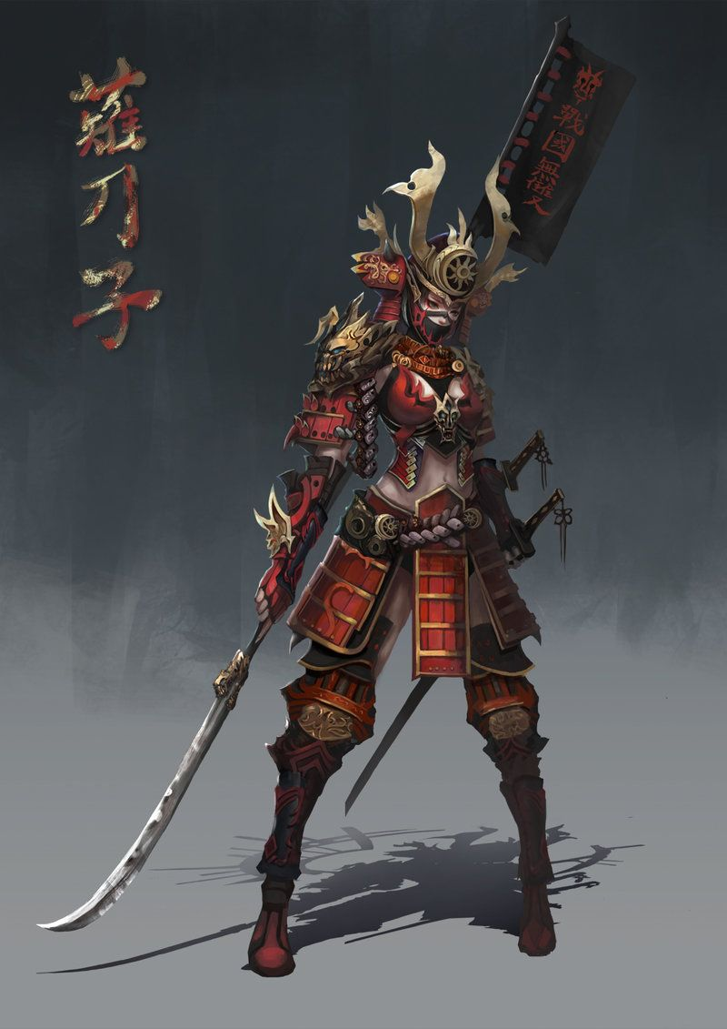 how to draw anime samurai armor