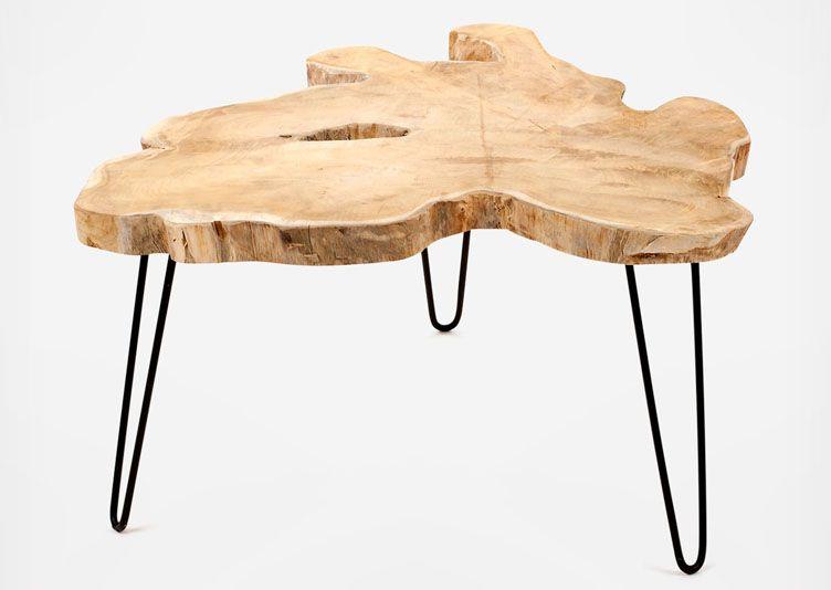 table basse tronc d arbre design