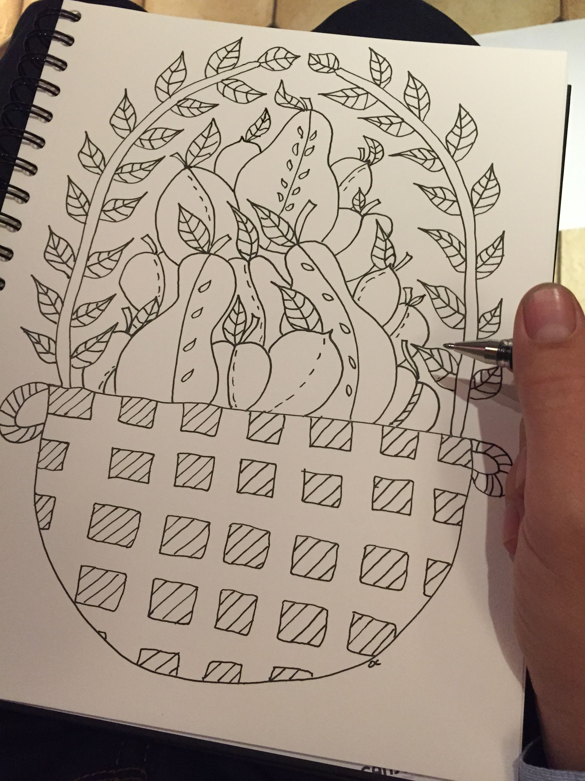 Greedy fruit basket ! Already on http://www.coloring-pages-adults ...