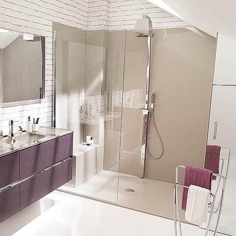 une douche compl te receveur panneaux muraux et banc enti rement sur mesure id es pour la. Black Bedroom Furniture Sets. Home Design Ideas