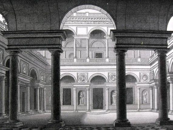 1849  ARCHITECTURE DESIGN  Georg Heck Folio  by AntiqueORIGINALS