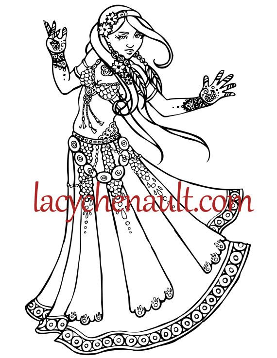 Printable adult Coloring page, hand drawn, Digital