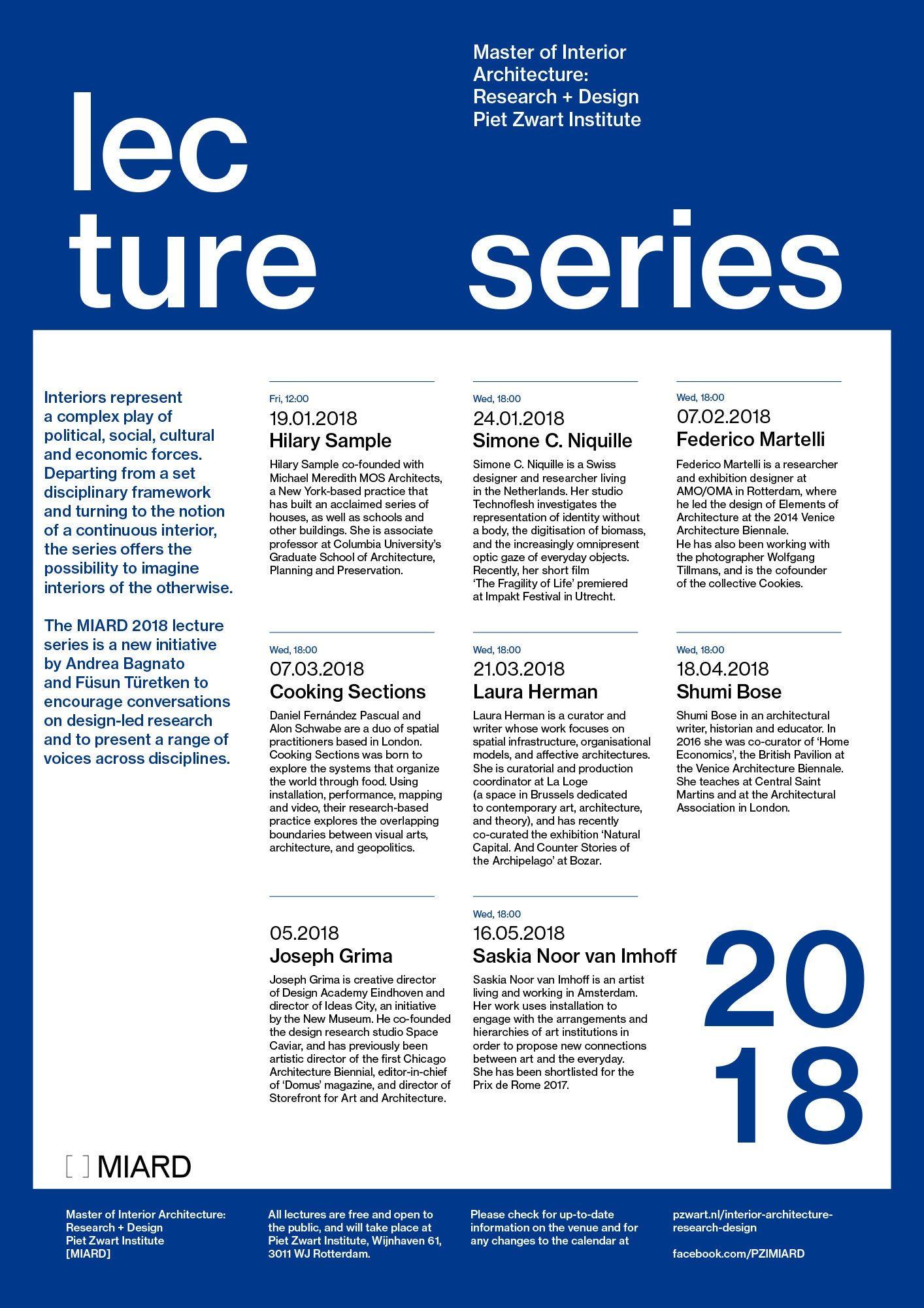 Get Lectured: Piet Zwart Institute MIARD 2018 | Architecture