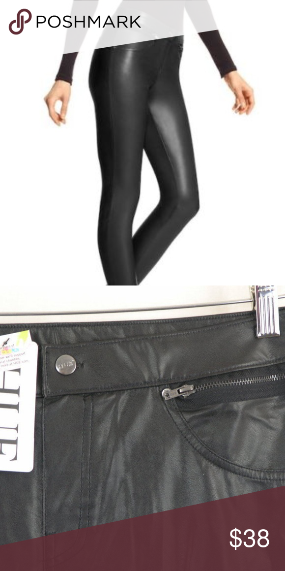 8bf91816484e0 Hue Leatherette Faux Leather Leggings Black NWT Hue Leatherette Faux  Leather Leggings Black Stretch Women's Size