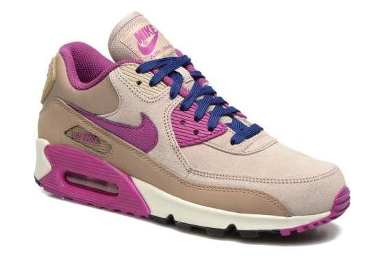 ecc10075bad Nike Wmns Air Max 90 Lthr (Beige) - Baskets chez Sarenza (230689 ...