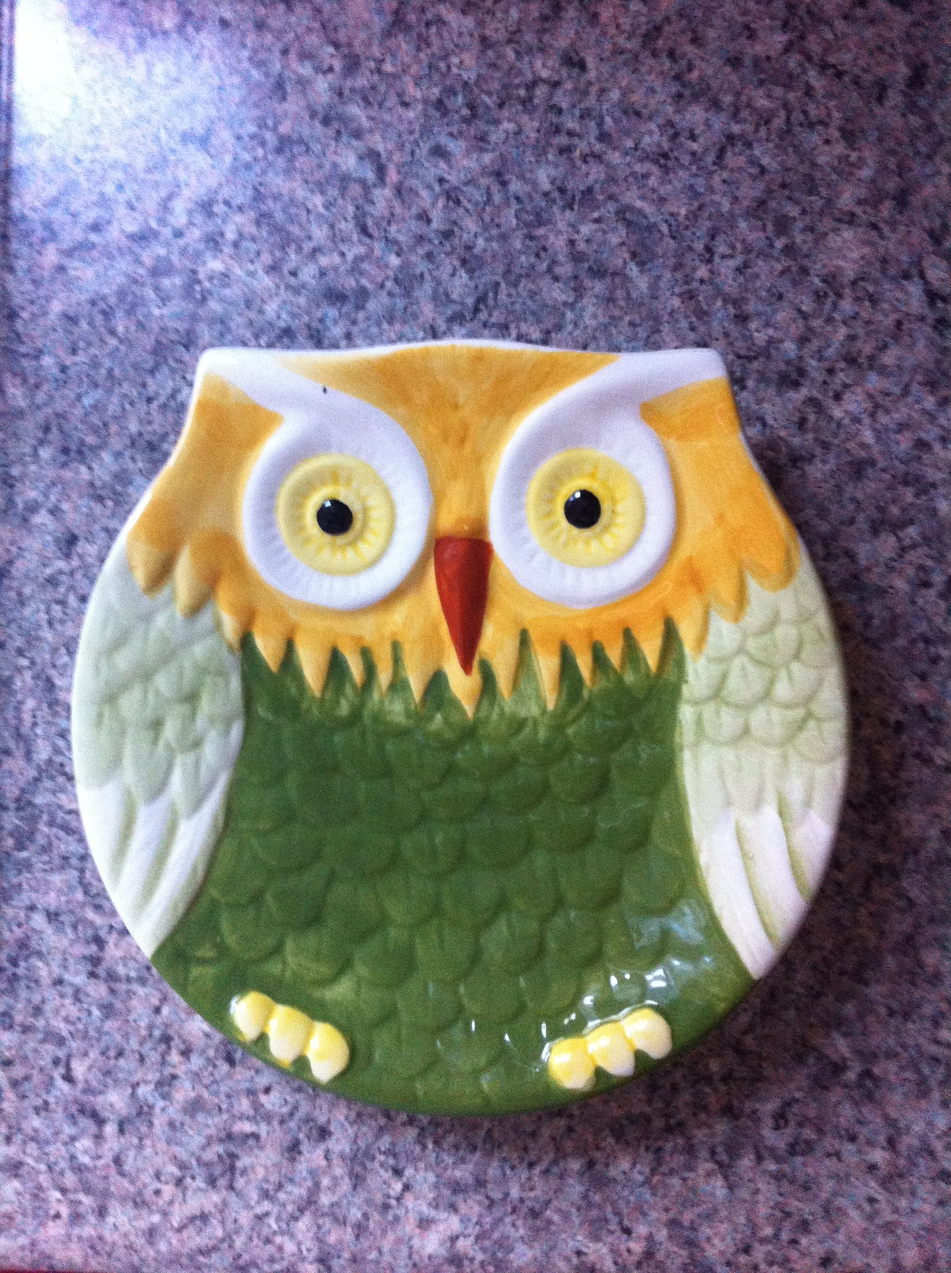 My new owl plate
