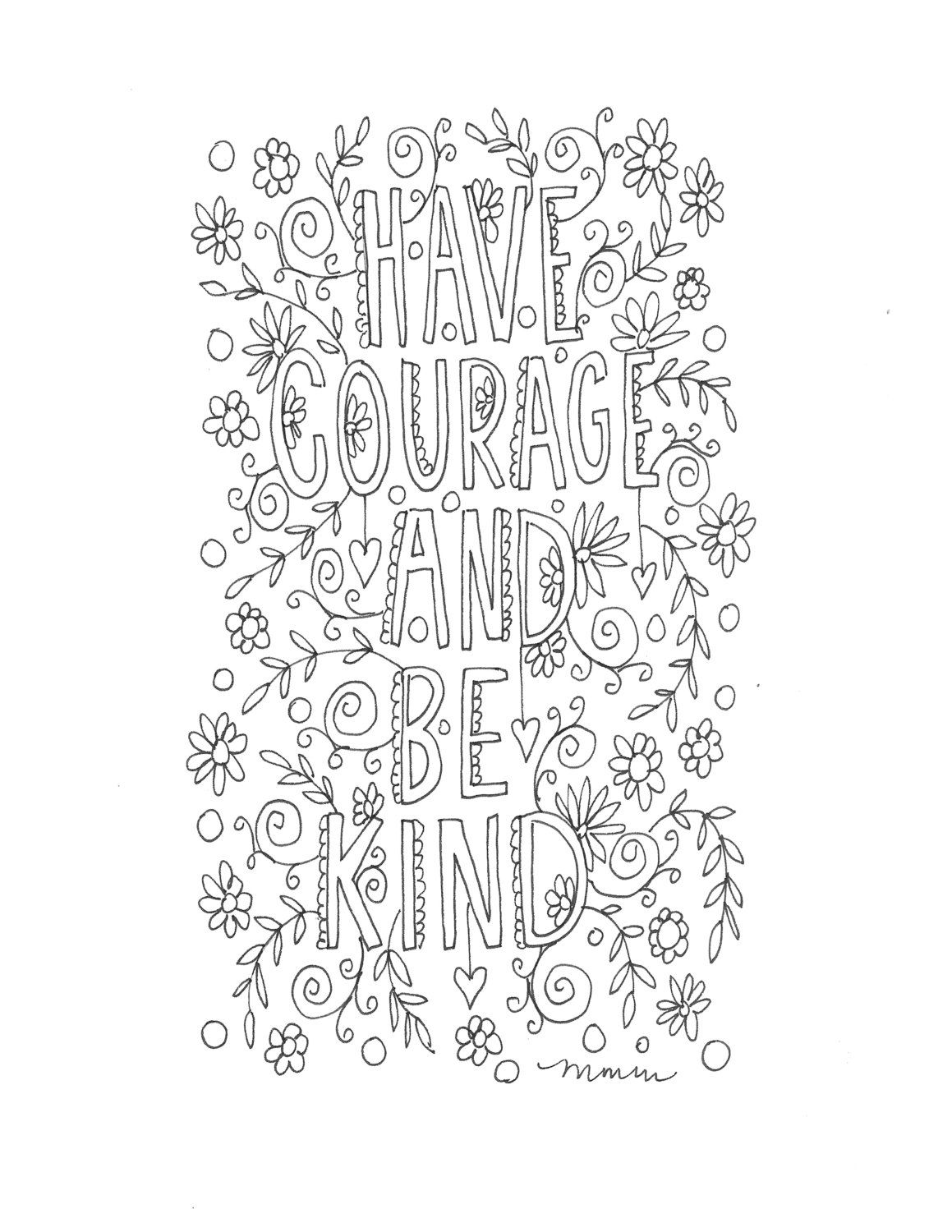 Line Art Quotes : Quote coloring page instant download line art